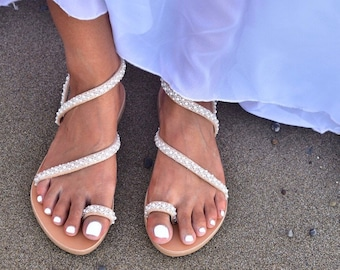 Handmade leather wedding shoes & bohemian by PinkyPromiseAccs