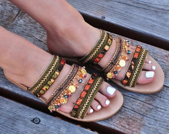 "Leather sandals ""Aysel"""