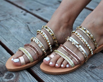"Leather sandals ""Cleopatra"""