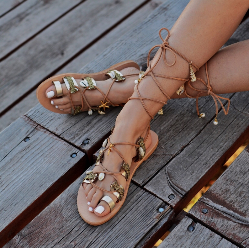 8348ef570035 Wedding Sandals Gardenia Greek leather sandals