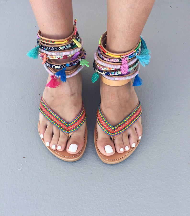 f34e658d23d9 Boho Sandals Cyclamine Gypsy sandals Handmade