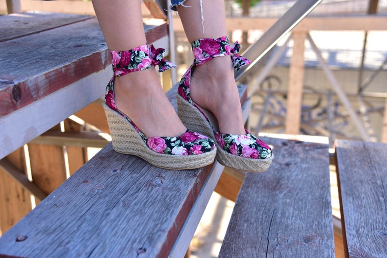 leather heels LIMITED EDITION made in Greece espadrilles wedges leather shoes Leather espadrille wedges /'/'Pocahontas/'/'
