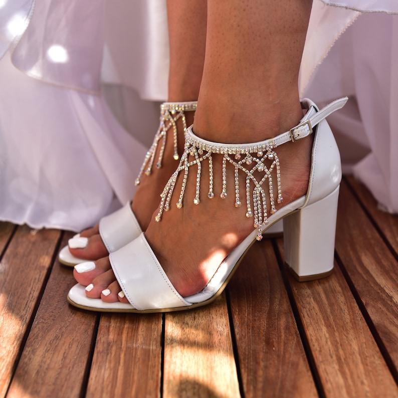 Braut Sandalen weiß