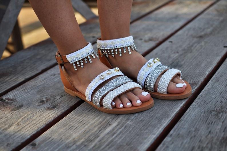 f732fc0c6e71 Boho sandals Baby s Breath Wedding sandals