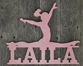 Gymnast Wall Door Hanging Personalized Name Gymnastics Sign