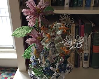 Beautiful Vintage Beaded Flowers