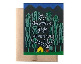 Adventurous Year Card // Wedding Anniversary Card, Adventure Birthday Card, Birthday Card for Husband, Anniversary Card