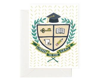 Graduation Coat of Arms // Graduation Card, Congrats Card, High School Graduation, Graduation Gift, College Graduation