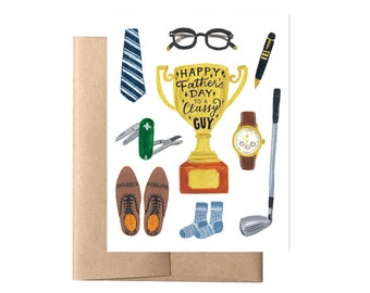 Classy Dad Father's Day Card // Trophy Card, New Dad Card, Cute Father's Day