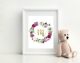 Personalised baby print, Personalised Nursery Print, Baby Print, Baby Shower Gift, Baby Present, New Baby Print, Baby Initial Print