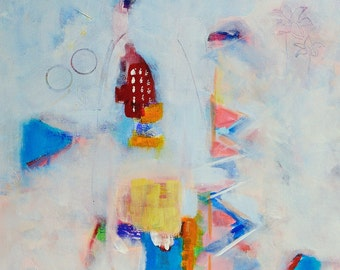 Invitation au Voyage |  Abstract Painting | Acrylic | 40x40cm