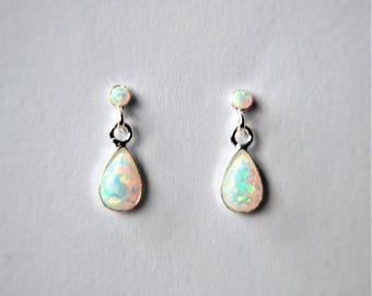 37dd8c7415890 Opal earrings sterling silver   Etsy