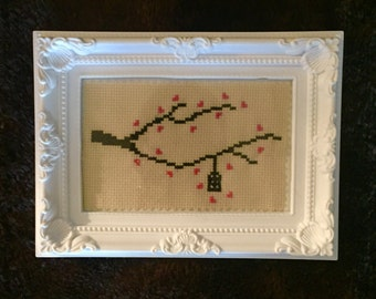 Cross Stitch Frame - 'Birdcage'