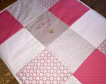 Personalised Patchwork Throw - 80cm x 60cm (Cot size)