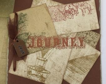 Congratulations travel journey graduation mens handmade card