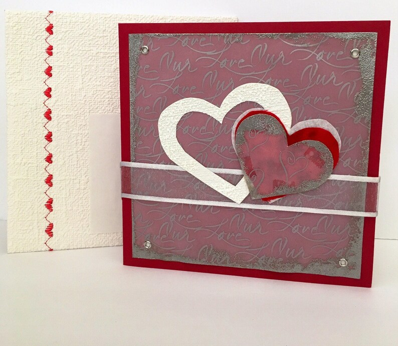 Congratulations Wedding Sweetheart Engagement Hearts Red White image 0