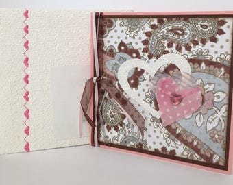Congratulations card, sweetheart card, baby card, handmade card