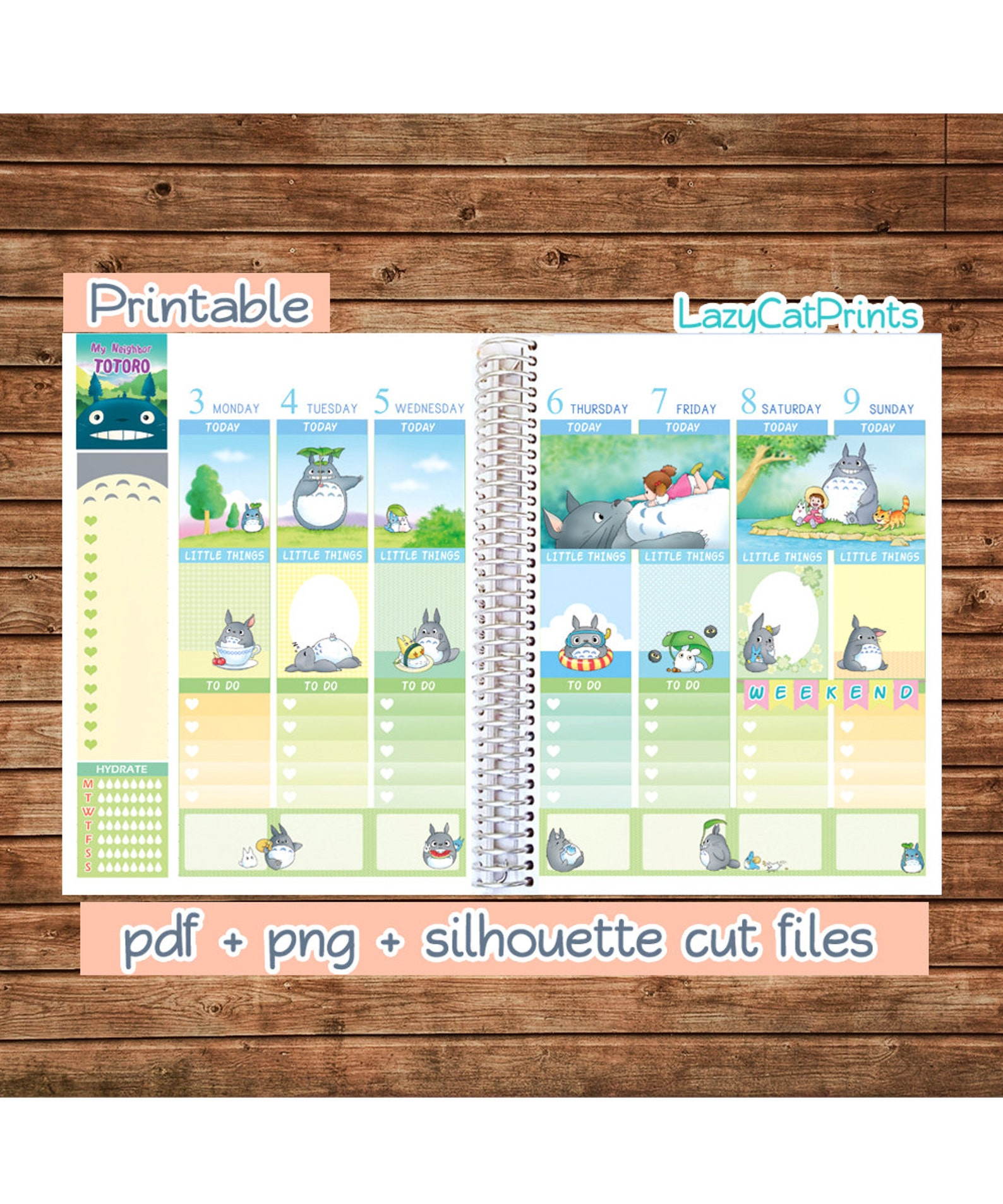 Totoro Printable Planner Stickers / Erin Condren Planner Stickers