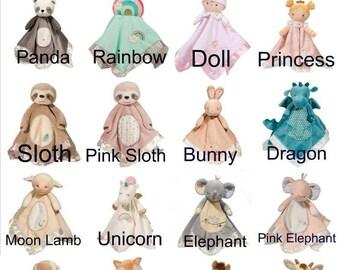 Personalized Snugglers, Personalized Baby lovies, Security Blanket, Stuffed Animal with Blanket, Lovie with Name, Newborn Gift, Boy Blankie