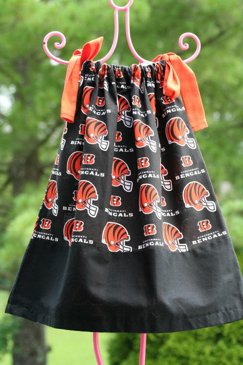 47040a19 Cincinnati Bengals Dress, Bangals Pillowcase Dress, Football themed dress,  NFL Dress, Cincinnati Dress, Bangals Dress,Football Dress