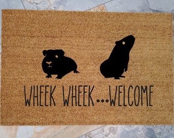 Guinea Pigs Doormat / Skinny Pigs Welcome Mat / Custom Doormats / Guinea Pig Decor / Wheek Wheek / Pet Gifts / Unique Gifts / Rodents Pets
