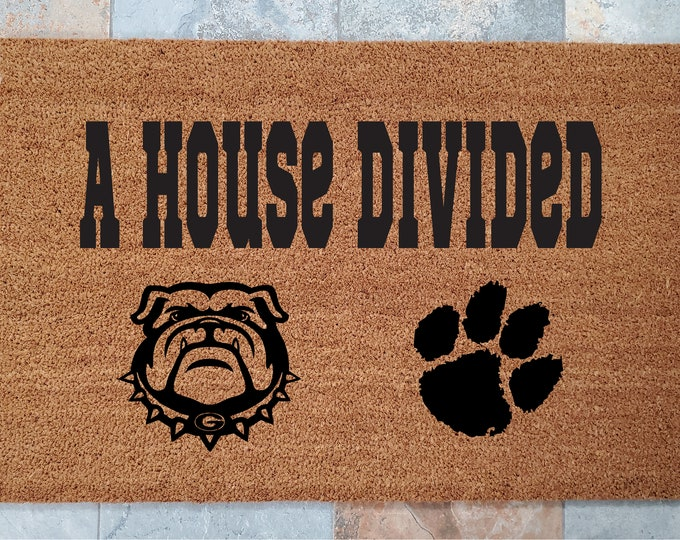 Support Your Favorite Sports Team Doormat / Personalized Doormat / Welcome Mat / Custom Doormat / College Sports / Pro Sports /Gifts for Him