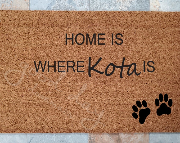 Pet Lover Welcome Mat - Fur Baby - Family Pet - Pet Lover - Dog  / Cat Decorations - Personalized Door Mat - Welcome Mat - Gift Ideas