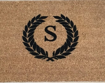 """SUPER SALE - One """"S"""" Only / Door mat for Mothers Day Gifts, Gifts for Mothers, Gifts for Wife, Monogrammed Doormat, Personalized Gifts"""