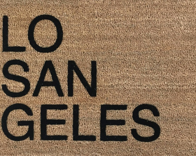 SUPER SALE - Los Angeles - One Only / City Doormat, Gifts for Him, Gifts for Brother, Gifts for Dad, Door Mats, Unique Gift, Welcome Mats
