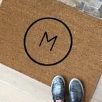 Housewarming Gift - Personalized Door Mat - Front Door Mat - Custom Doormat - Family Name Letter - Personalized Gift