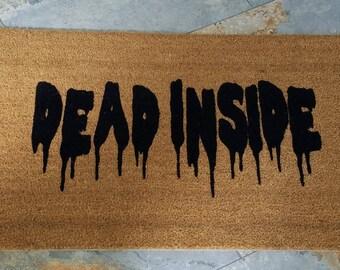 Walking Dead Doormat / Welcome Mat / Custom Doormat / Dead Inside / Walking Dead Gift Idea / Walking Dead Decor / Door mats / Zombies