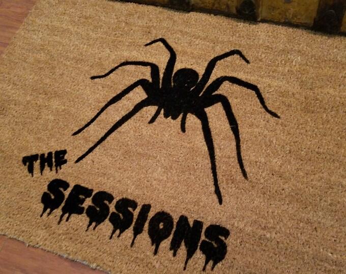 Custom Doormat, Custom Welcome Mat, Personalized Doormat, Halloween Doormat, Unique Gift Ideas, Spider Doormat, Creepy Doormat, Holiday Gift