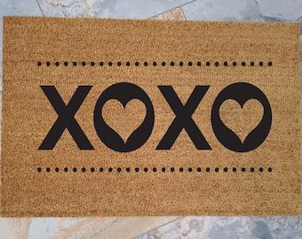 Love Gifts, Love Doormat, Custom Welcome Mat, Custom Doormat, Personalized Doormat, Love Sign, Love Is Love, XOXO, XOXO Sign, XOXO Prints