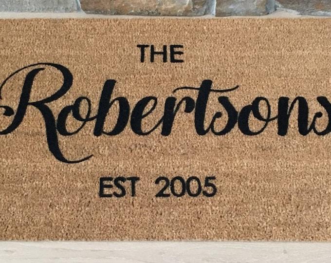 Personalized Doormat / Custom Doormat / Door Mats / Wedding Gift Ideas / Gift for Couple's / Family Gift / Unique Gift Ideas / Door Mat Gift