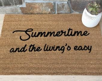 Summertime Doormat, Custom Doormat, Custom Welcome Mat, Personalized Doormat, Summer Home Decor, Unique Door Mats, 90's Lover Gifts, Sublime