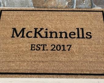 Door Mats / Personalized Doormat / Custom Doormat / Welcome Mat / Last Name Gifts / Wedding Gifts / Housewarming Gifts / Unique Gift Ideas