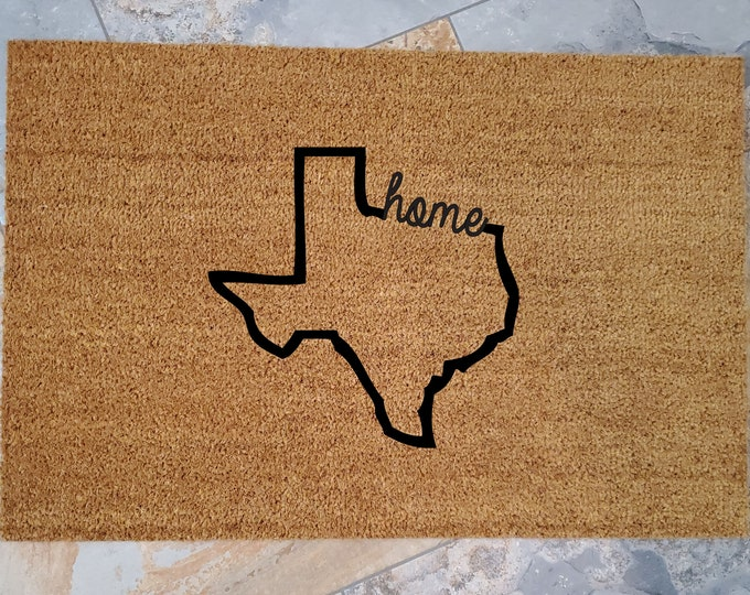 Home State Doormat / Welcome Mat / Personalized Doormat / Custom Doormat / My State Gift / Family Gift / Unique Gift Ideas / State Gift