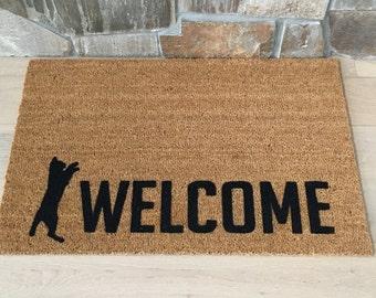 Cat Welcome Mat / Custom Doormats / Personalized Doormat / Welcome Mat / Pet Lover Gifts / Cat Lover / All things Cat / Felines Fur Babies