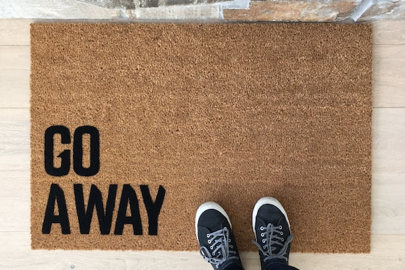 Go Away Doormat, Funny Door Mat, Creative Door Mats, Coir Doormat, Cool Door Mats, Doorstep Mats