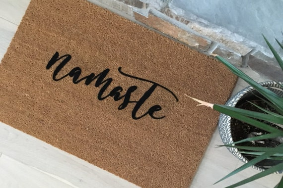 Namaste Gift, Namaste Door Mats, Yoga Lover Gifts, Yoga, Gifts for Sister, Gifts for Mom, Gifts for Girlfriend