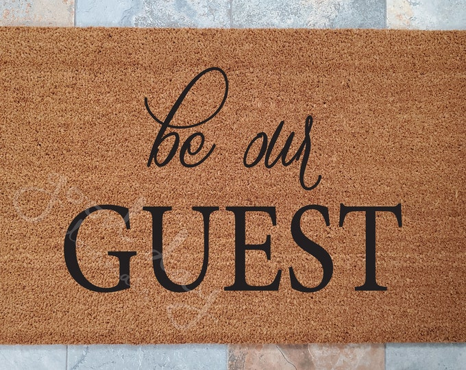 Be Our Guest Doormat and Many Other Custom Doormats / Welcome Mat / Disney Mat / Custom Doormat / Classic Doormat / Family Gifts / Mickey