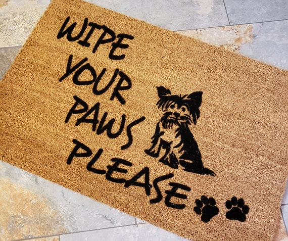 Wipe Your Paws Please / Pet Lover Doormat / Welcome Mat / Pet Lover Gifts / Gifts for Friends / Welcome Gifts / Gift for Her / Gifts for Him