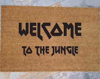 Welcome to the Jungle / Welcome Mat / Jungle Doormat /Custom Doormat / Personalized Doormat / Funny Doormat / Housewarming Gifts