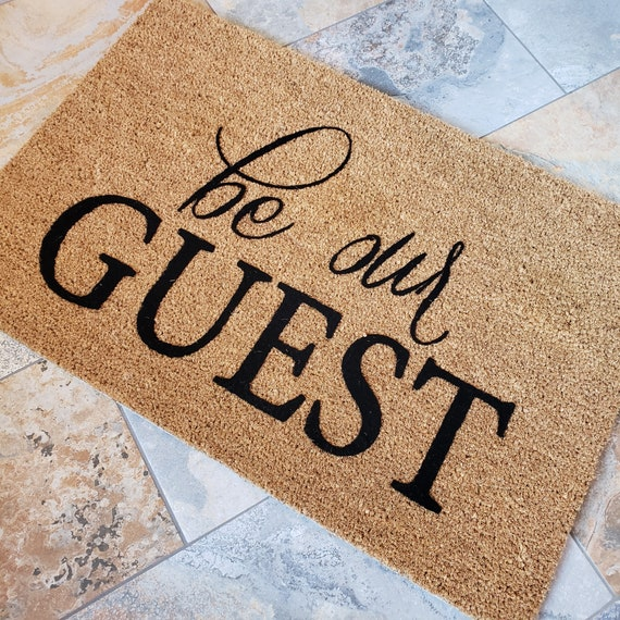 Be Our Guest Doormat / Welcome Mat / Disney Mat / Custom Doormat / Classic Doormat / Doormat / Unique Gift Ideas / Family Gifts / Mickey