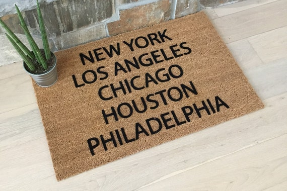 LAST ONE / New York City Decor, Los Angeles Decor, Chicago Decor, Houston Decor, Philadelphia Decor, Cool Door Mats, Bachelor Pad Decor