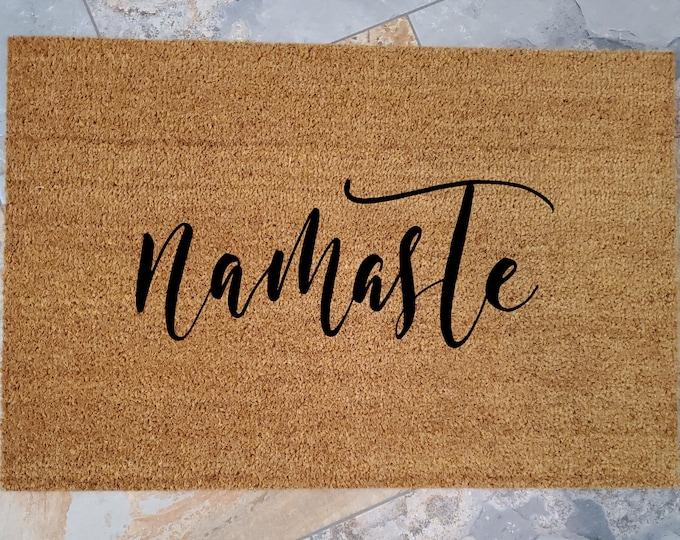 Namaste Gift, Namaste Door Mats, Yoga Lover Gifts, Yoga, Gifts for Sister, Gifts for Mom, Gifts for Girlfriend