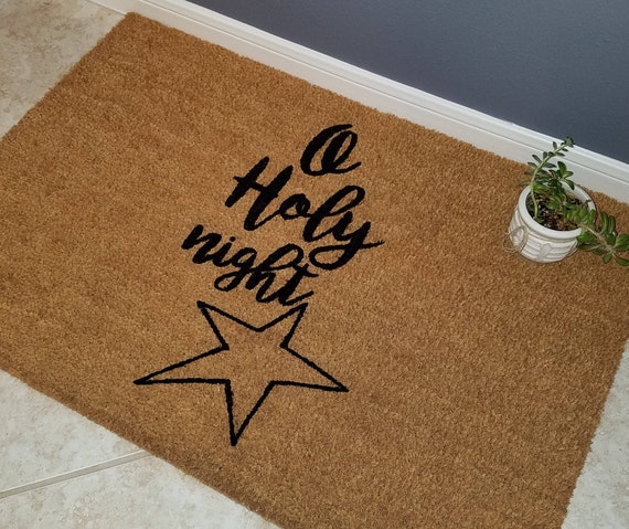 Door Mats / Custom Doormat / Welcome Mat / Gift Ideas /  Personalized Doormat / Unique Gifts / Religious Doormat / Unique Gifts / Star