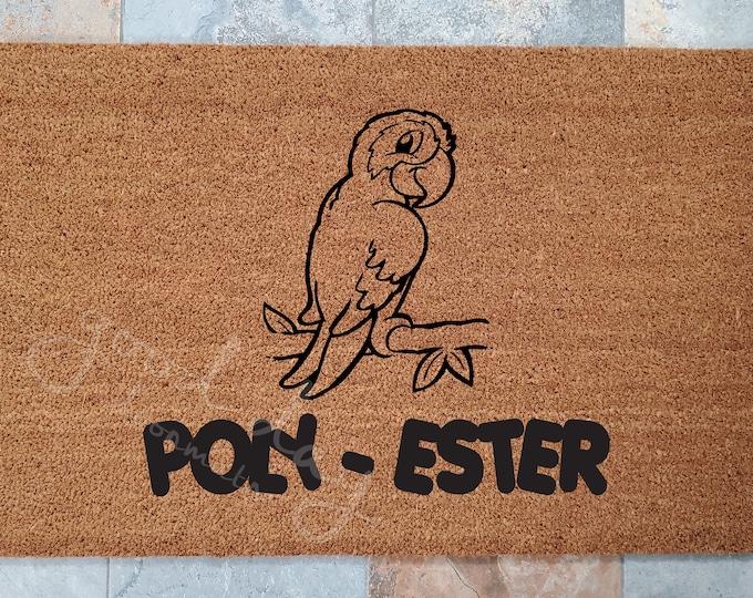Parrot Welcome Mat / Door Mat / Welcome Mat / Custom Doormat / Pet Doormat / Pet Decor / Unique Door Mat / Bird Lovers Doormat / Polyester