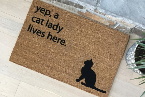 Funny Doormat / Door Mats / Custom Doormat / Gifts for Her / Gifts for Mom / Personalized Doormat / Gifts for Wife / Cat Lover Gifts / Fun