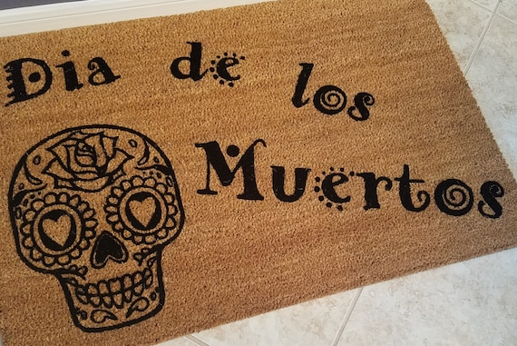 Door Mats / Welcome Mat / Custom Doormat / Personalized Doormat / Halloween Doormat / Unique Gift Ideas / Sugar Skull / Day of the Dead
